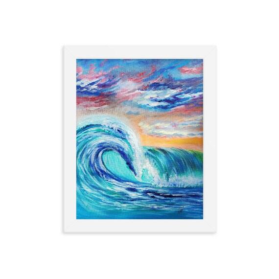 Ocean Curls Framed poster