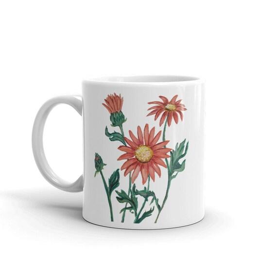 Daisies Floral Mug