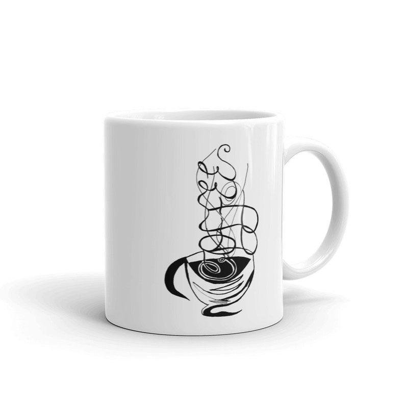 Calligraphy Coffee Custom Coffee 11oz Mugs Full Color Art image 0