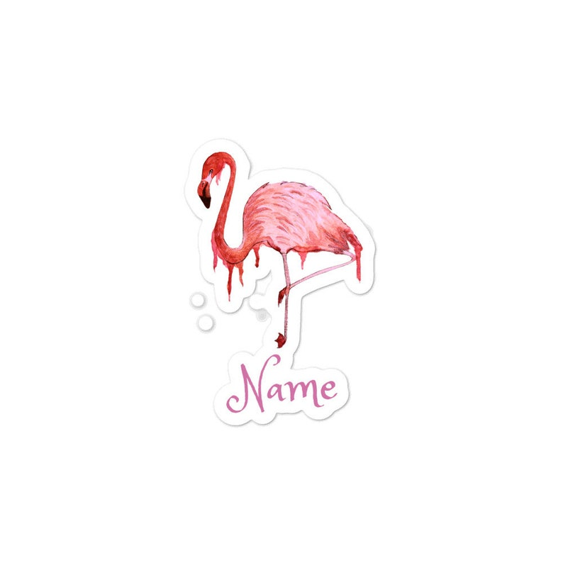 Personalized Bubble-free stickers 3 sizes Name Initials image 0