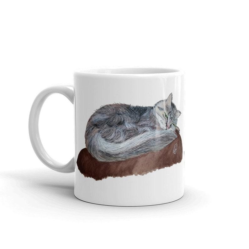 Cat Custom Coffee 11oz Mugs Full Color Art Designs image 0