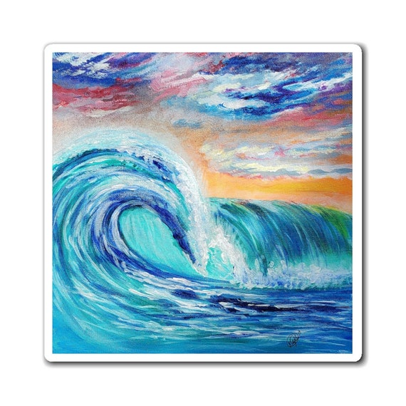 Ocean Curls Magnet