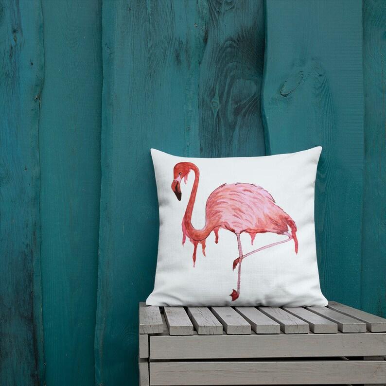 Flamingo Drip Premium Pillow image 0