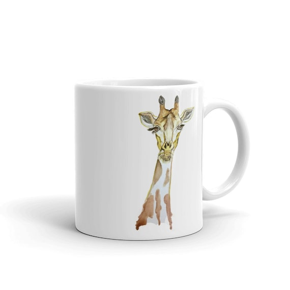 Giraffe Custom Coffee 11oz Mugs, Full Color Art Designs, Personalized, Dishwasher/Microwave Safe