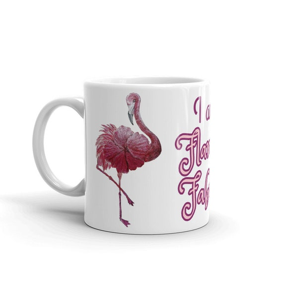 Flowered Flamingo Mug