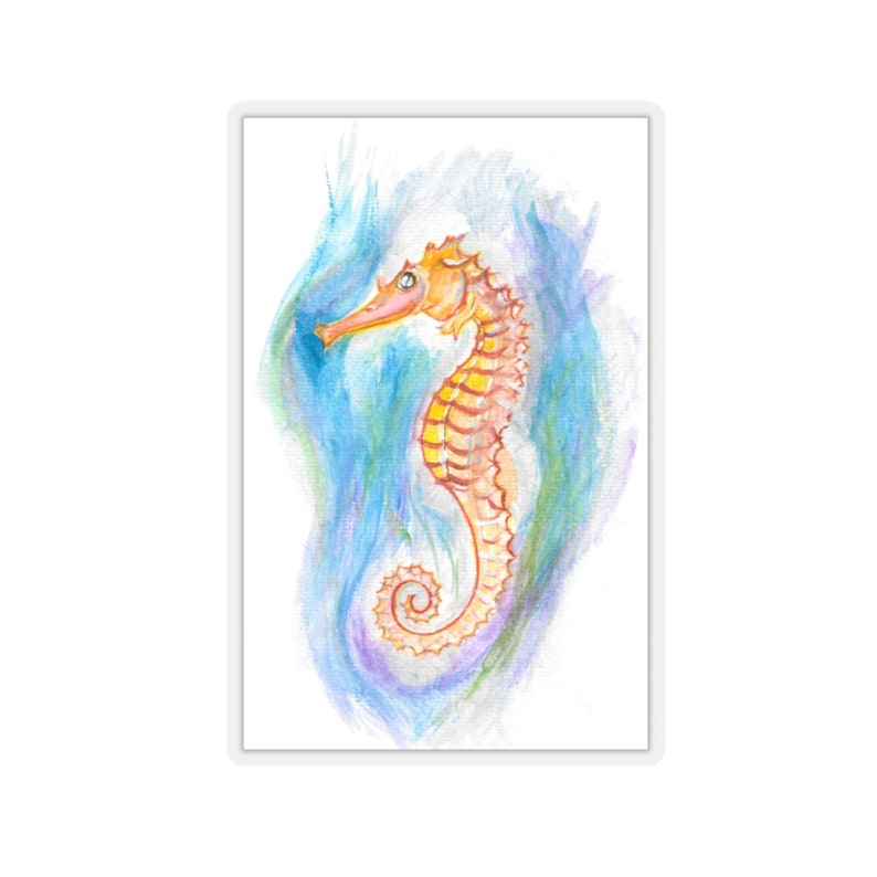 Sea Horse Kiss-Cut Stickers image 0
