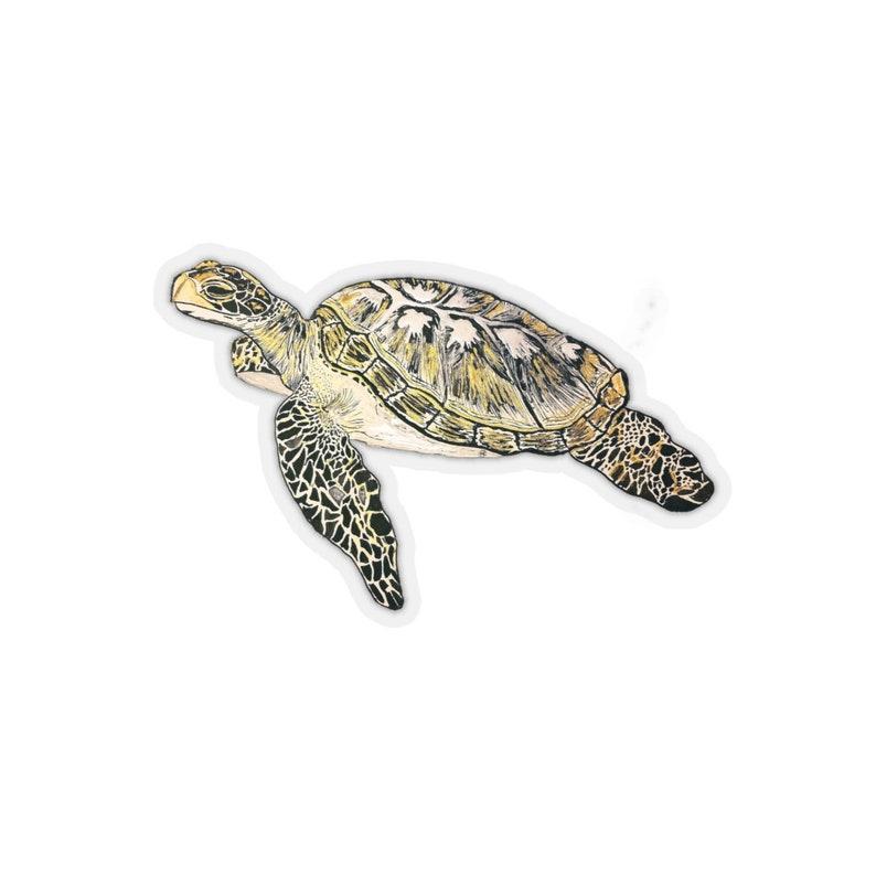 Sea Turtle Kiss-Cut Stickers image 0