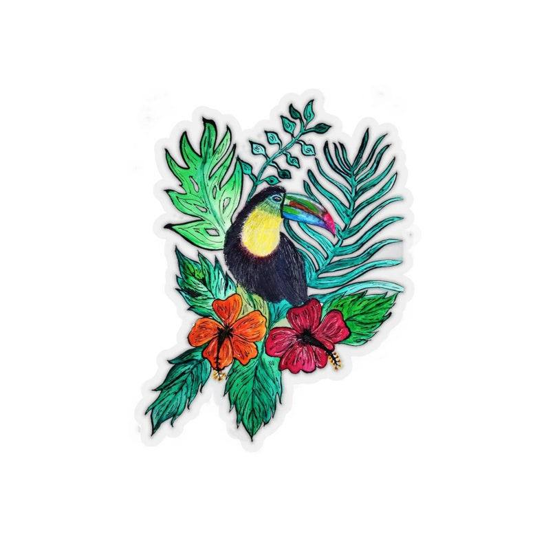 Toucan Bird Kiss-Cut Stickers image 0