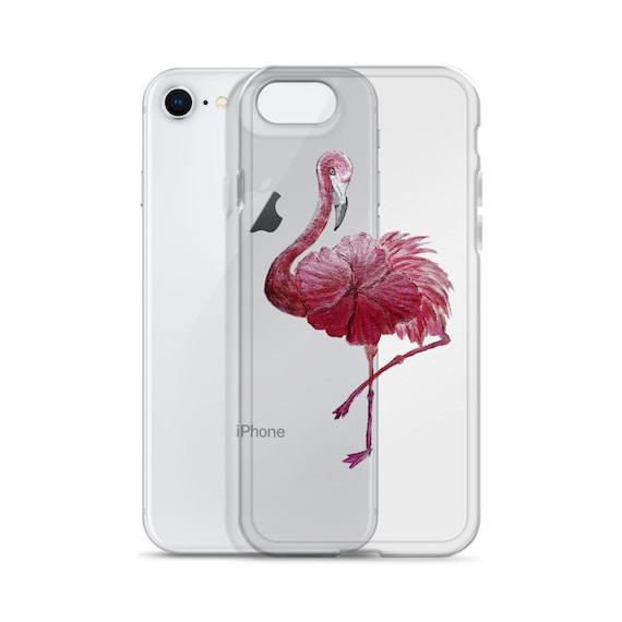 Flowered Flamingo iPhone Case
