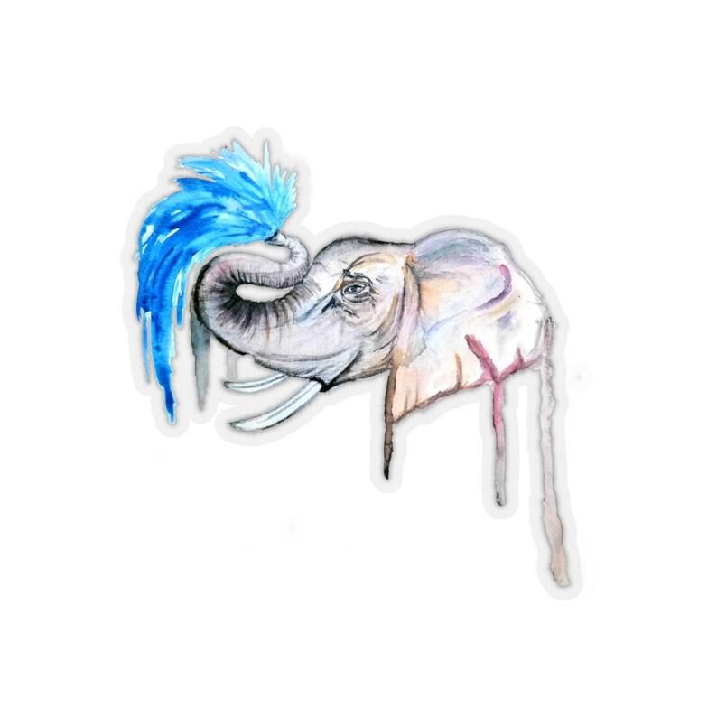 Elephant Ikigai Kiss-Cut Stickers image 0