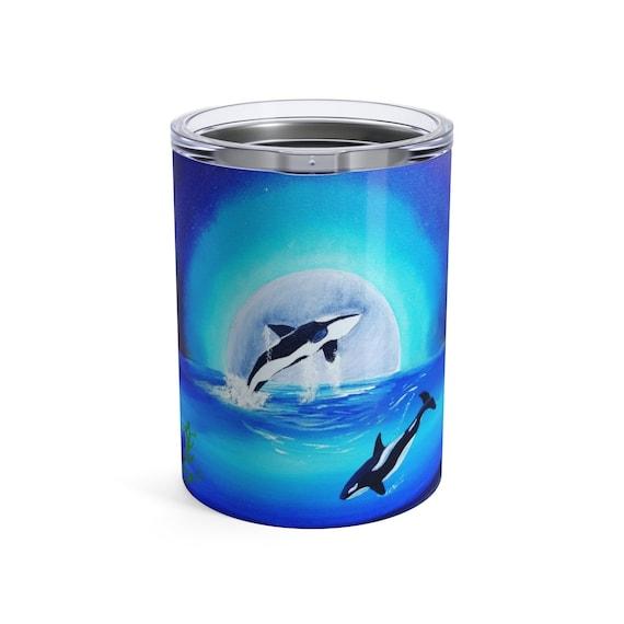Orca Whale, Tumbler, 10oz or 20oz