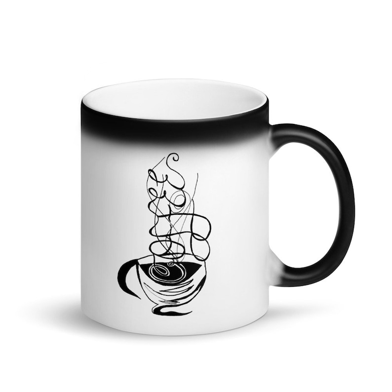 Calligraphy Coffee Custom Coffee 11oz Mugs Full Color Art image 0