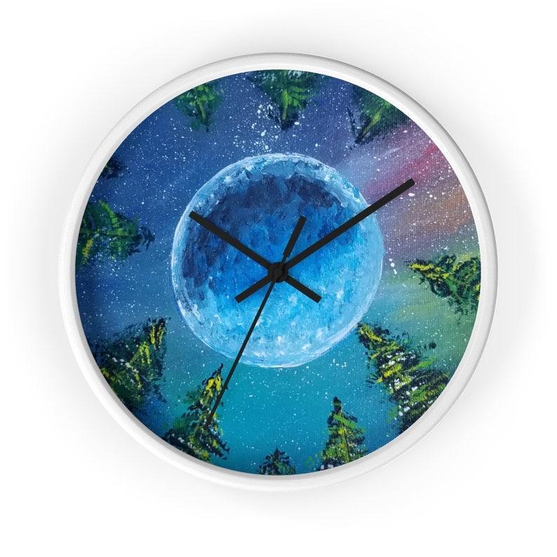 Earths Night Sky Wall clock image 0