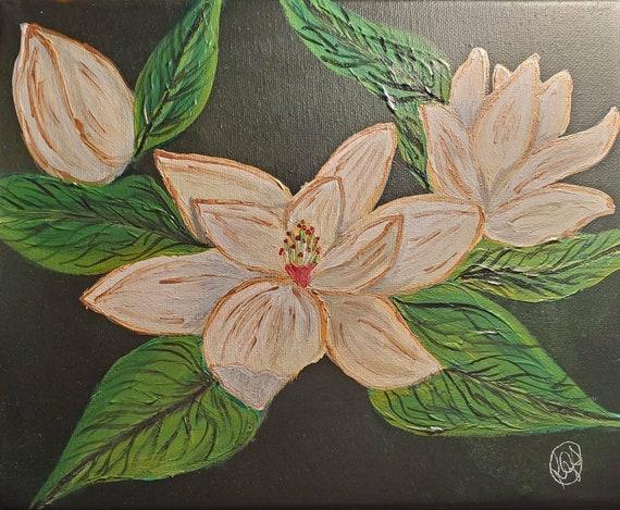 Magnolia 8x10 Acrylic Original Painting