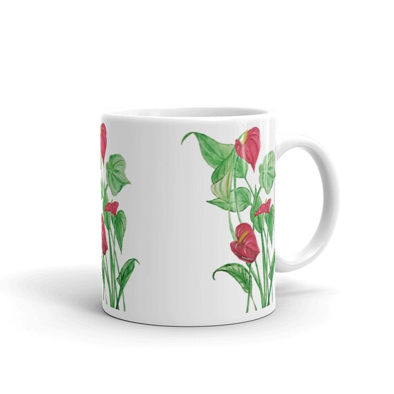 Floral Custom Coffee 11oz Mugs, Full Color Art Designs, Personalized, Dishwasher/Microwave Safe
