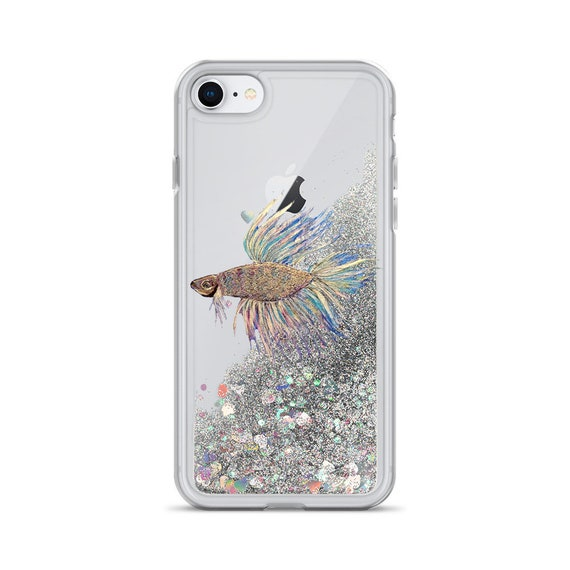 Betta Fish Liquid Glitter Phone Case