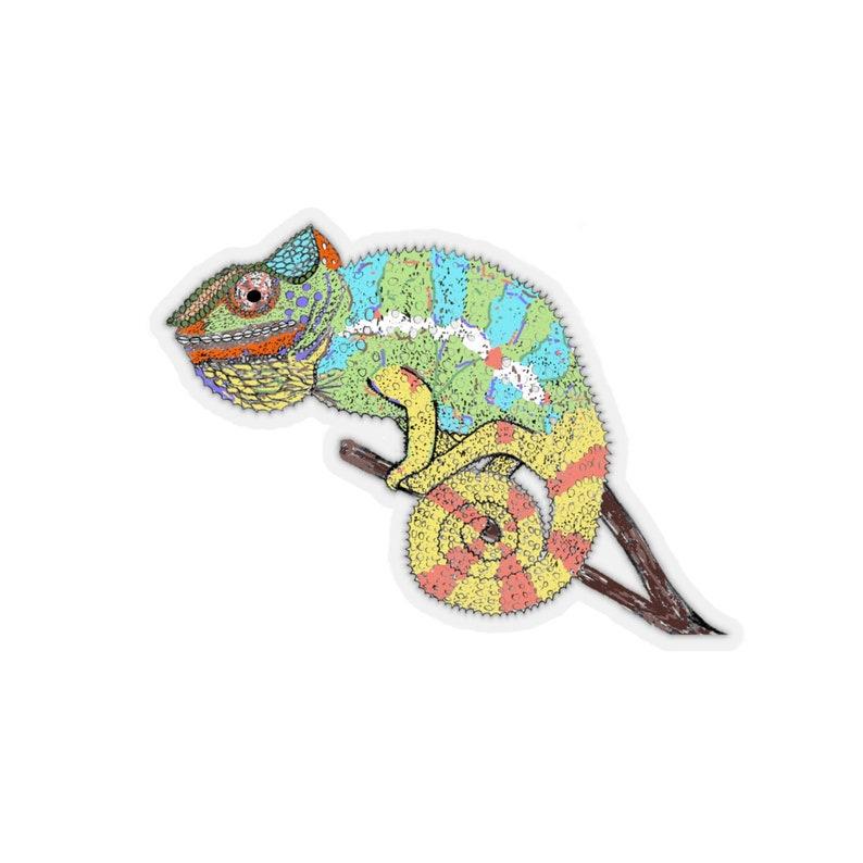 Chameleon Kiss-Cut Stickers image 0