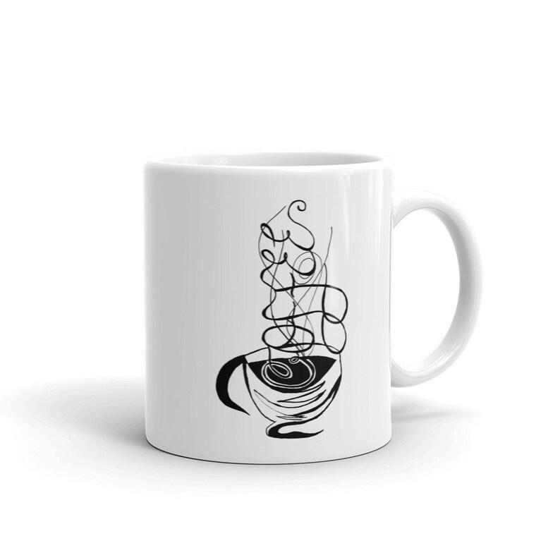 Calligraphy Custom Coffee 11oz Mugs Full Color Art Designs image 0