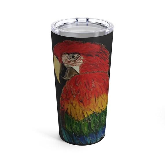 Scarlet Macaw Tumbler 20oz