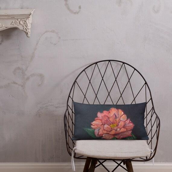 Coral Peony Premium Pillow