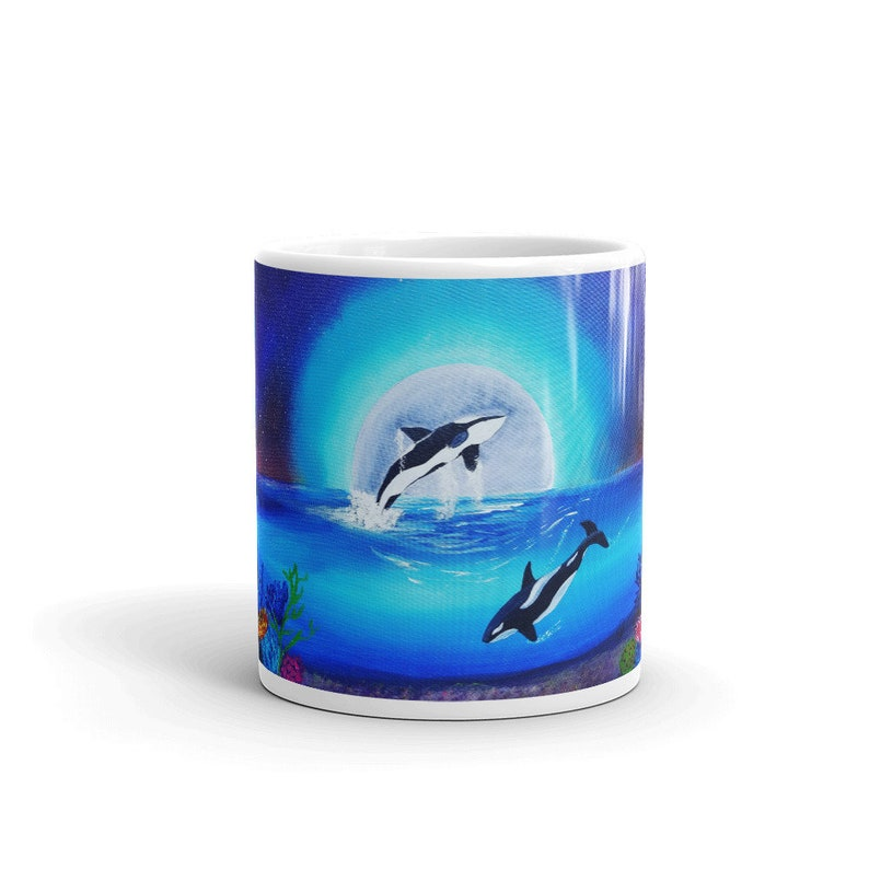 Whales Custom Coffee 11oz Mugs Full Color Art Designs image 0