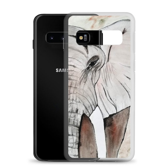 "Elephant, Samsung, Phone Case, ""Gentle Giant"", Art by Kikajo"