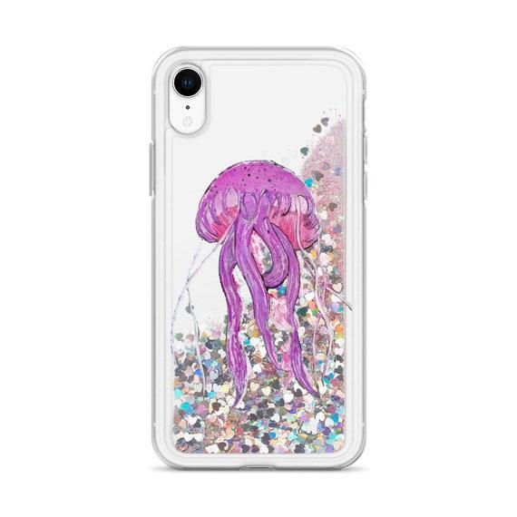 Jelly Fish Liquid Glitter Phone Case