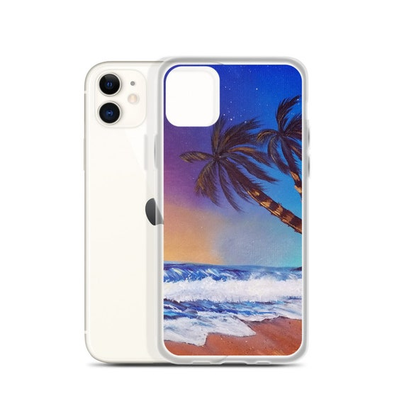 "Beach iPhone Case, ""Colors of Dusk"", Art by Kikajo"
