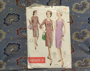"Weigels 60s Dress Pattern, 38"" bust"