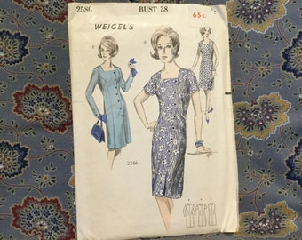 Weigels 60s Dress pattern , bust 38""