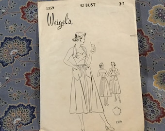 Weigels 40s dress pattern bust 32""
