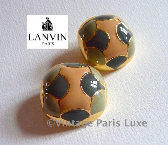 Vintage LANVIN Earrings, LANVIN PARIS, Lanvin Jewe