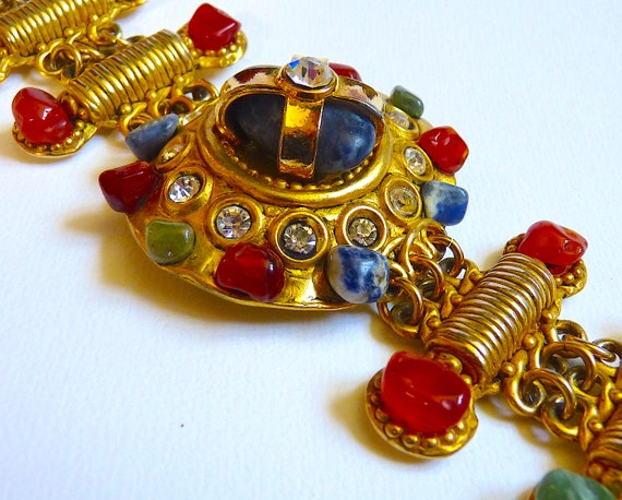 Vintage CLAIRE DEVE Cuff Bracelet with Polished N… - image 4