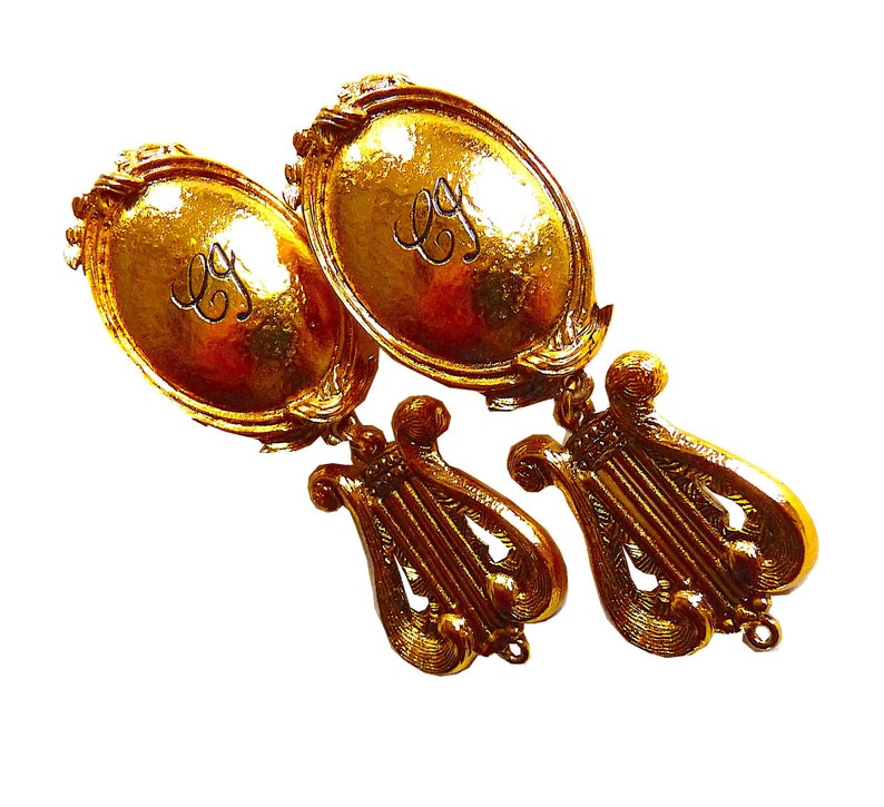 GOOSSENS 80s Earrings Gift for Her Vintage Couture Jewelry CHARLES JOURDAN Vintage Earrings by R Valentine/'s Jewelry Gift High Fashion
