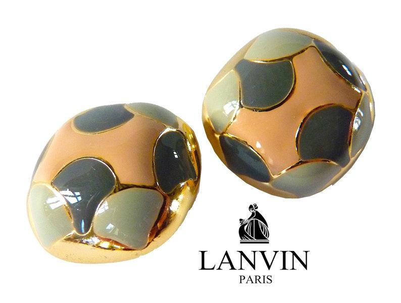 3b9d44b5c LANVIN Clip On Earrings LANVIN PARIS Lanvin Jewelry 80s | Etsy