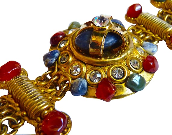 Vintage CLAIRE DEVE Cuff Bracelet with Polished N… - image 1