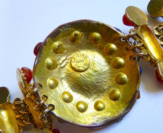 Vintage CLAIRE DEVE Cuff Bracelet with Polished N… - image 5