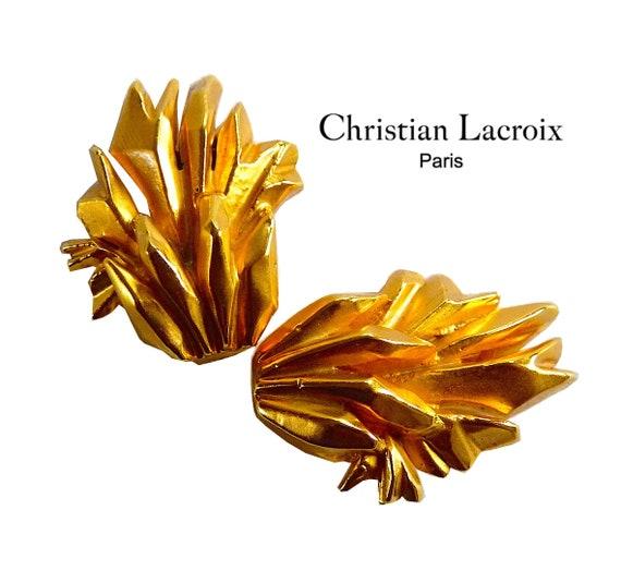 CHRISTIAN LACROIX Modernist Earrings, LACROIX Vint