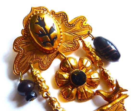 Amazing CHRISTIAN LACROIX Brooch, Vintage Christia