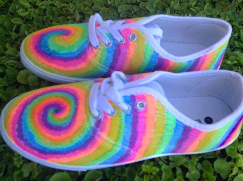 dbce81ef20d1 Sharpie Tie-dye canvas shoes