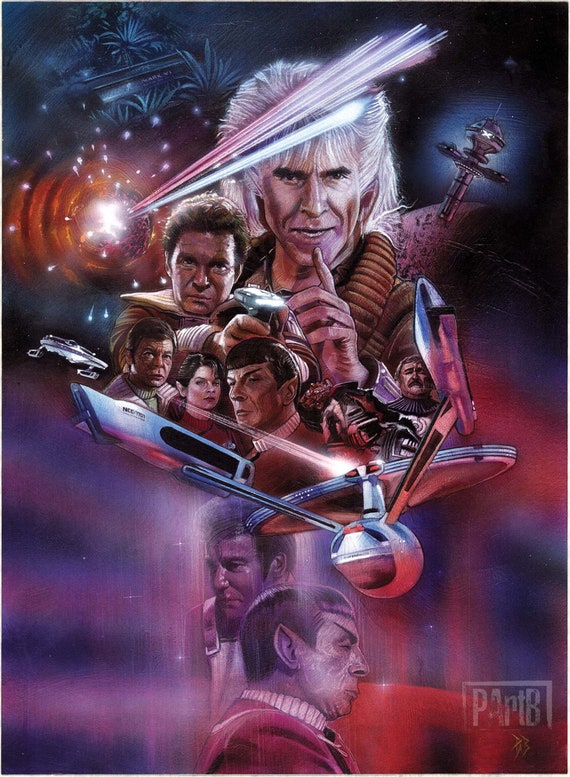 THE WRATH OF KHAN Movie POSTER 11x14 D Leonard Nemoy STAR TREK 2