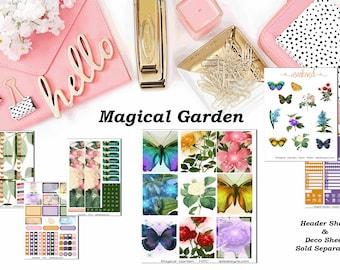 Magical Garden, 6 sheet weekly kit//EC//Hp classic, large mini