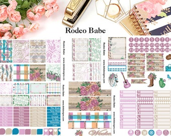 Rodeo Babe, 6 sheet weekly kit//EC//HP classic, large mini