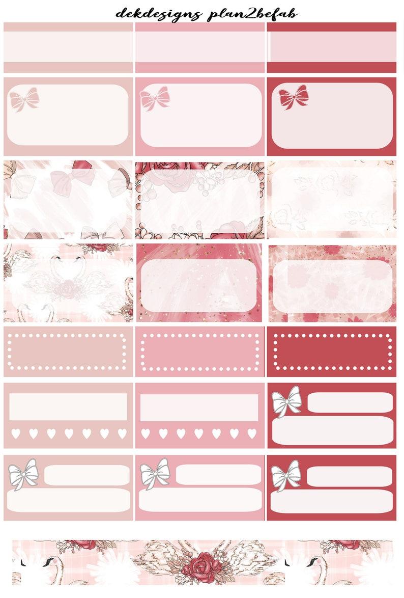 Ballerina-White Space Kit 4 SheetsWeekly Sticker KitErin Condren StickersHappy Planner StickersPlanning Stickers