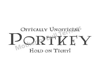 Officially Unofficial Portkey Vinyl Decal