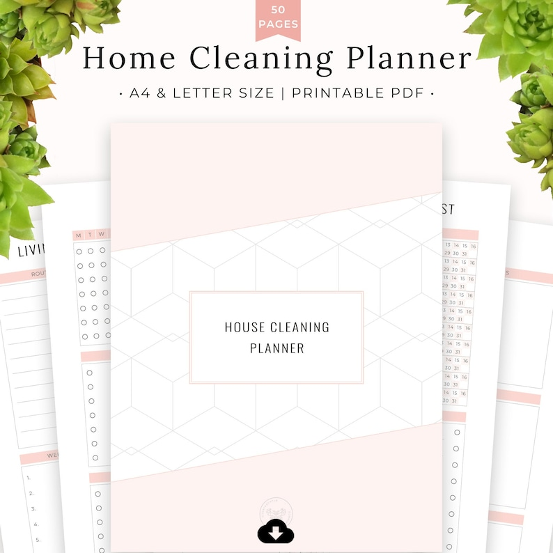 Home Cleaning Planner Printable Bundle Deep Cleaning image 0