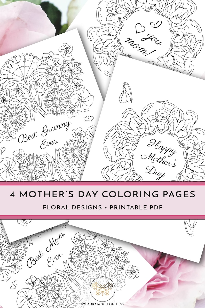 graphic about Printable Mothers Day Cards to Color Pdf named Printable Moms Working day Coloring Internet pages, Do it yourself Joyful Moms Working day Reward, Least difficult Granny At any time, Great Mother At any time, I Appreciate Your self Mother, Letter Dimension PDF Card