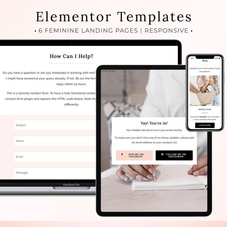 Elementor Landing Page Templates WordPress Website Templates image 0