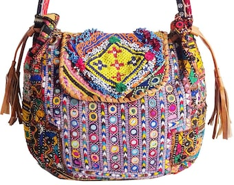 BANJARA Leghari Beaded   Embroidered Bag 09ef236983538