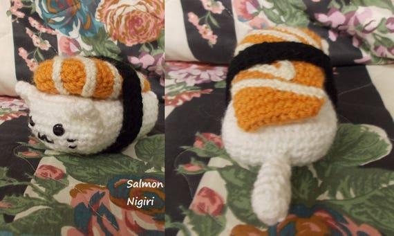 Ebi (Shrimp) Nigiri Sushi Cat | etsy.me/1qBIBJz Last of the sushi ... | 341x570